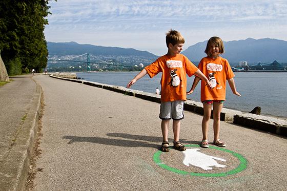 Kids on the waddle lane
