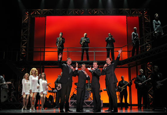 Preston Truman Boyd, Joseph Leo Bwarie, John Gardiner, Michael Lomenda and the Company of JERSEY BOYS