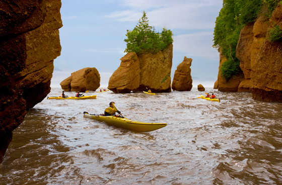 Hopewell Rocks at high tide