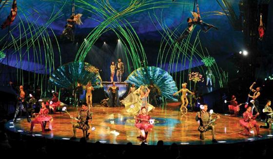 Amaluna stage and set