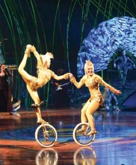 Amaluna unicyclists