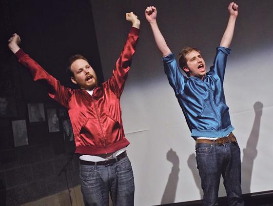 Peter n Chris on stage