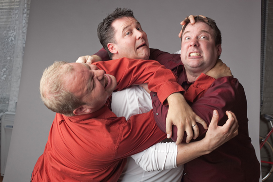 Pacific Theatre improv players. Photo by Kevin Clark