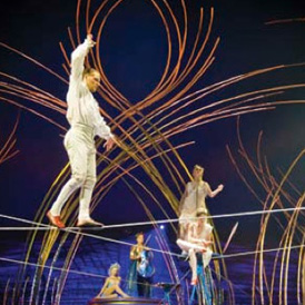 Amaluna tight rope act