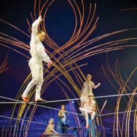 Amaluna tight rope act