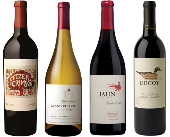 4 California wines