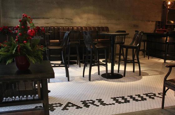 Parlour interior tile design
