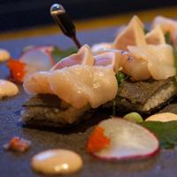 AURA fried sushi platter