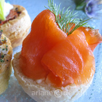green tea-cured wild salmon lox