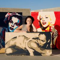 Elisabetta with artworks
