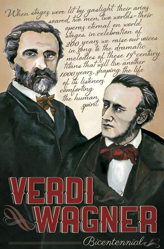 VERDI WAGNER poster