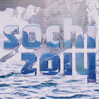 Sochi 2014 logo on screen