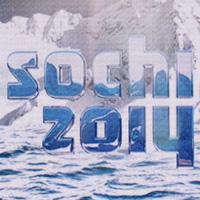 Sochi 2014 logo on screen