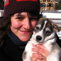 Me and husky puppy