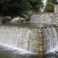 UniverCity campus fountain