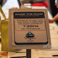 Raise the Roof silent auction sign