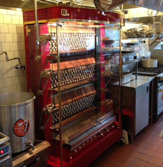 Rotisol rotisserie machine