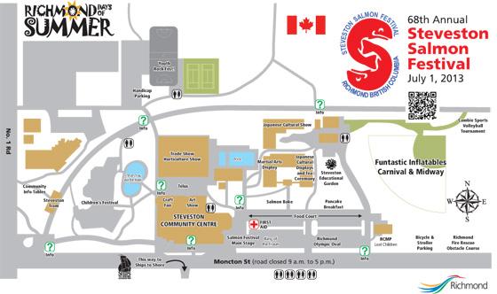 Salmon Festival map
