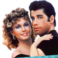 Olivia Newton-John, John Travolta in Grease