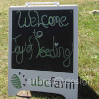 Joy of Feeding sign