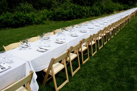 Araxi Long table photo by Toshi Kawano