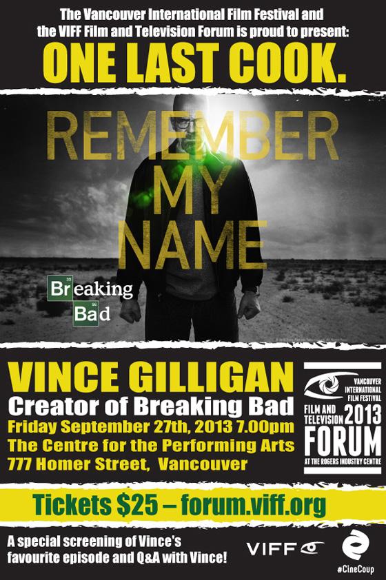 VIFF Forum Breaking Bad flyer