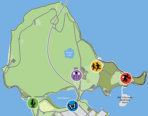 Stanley Park event map