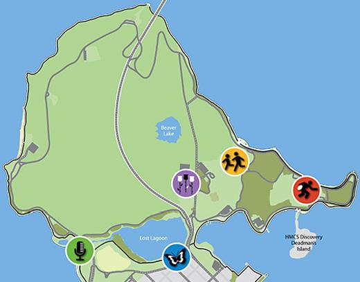 Stanley Park event map