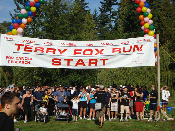 Terry Fox Run photo by Susan Gittins