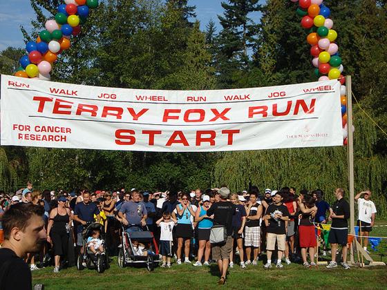 Terry Fox Run photo by Susan Gittins