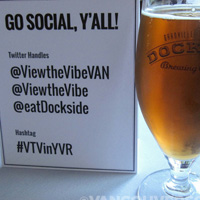 View the Vibe beer and social media