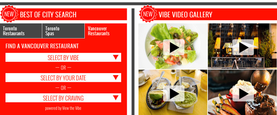 View the Vibe Vancouver screen