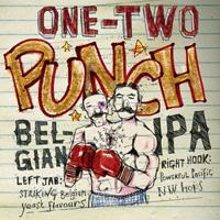 GIB One-Two Punch IPA label design