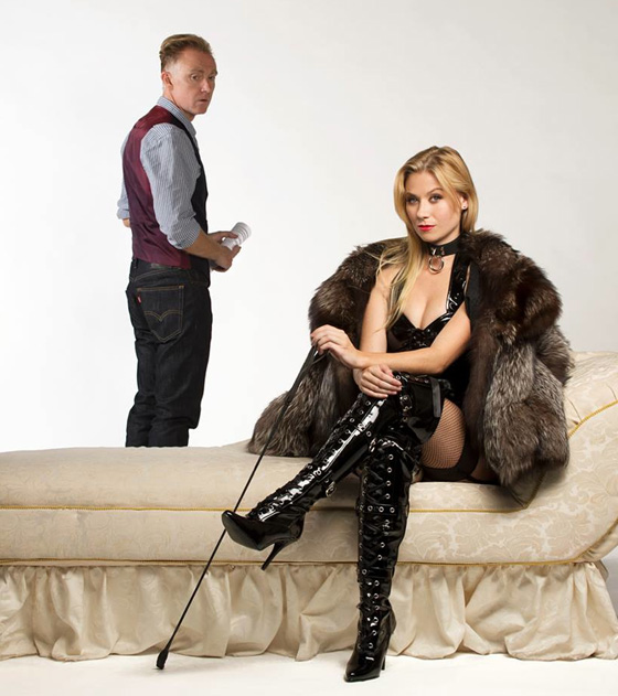 Vincent Gale and Lindsey Angell in Venus in Fur