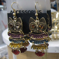 Old Navy Owl Earrings