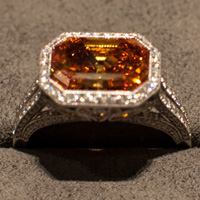 Tiffany orange diamond ring