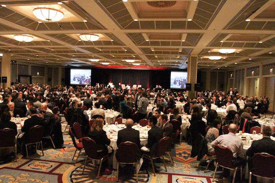 Van Canadians luncheon ballroom view