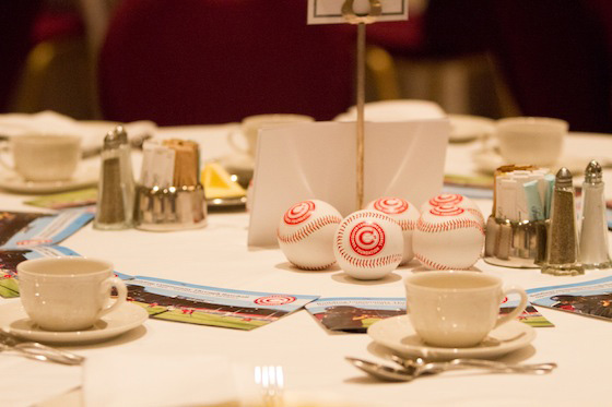 Van Canadians luncheon table setting