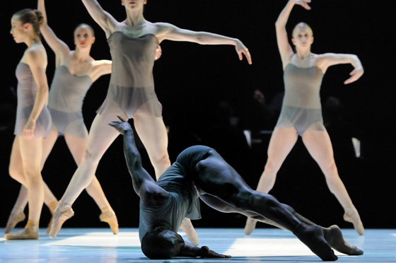 Gilbert Small with artists of Ballet BC; photo by Michael Slobodian