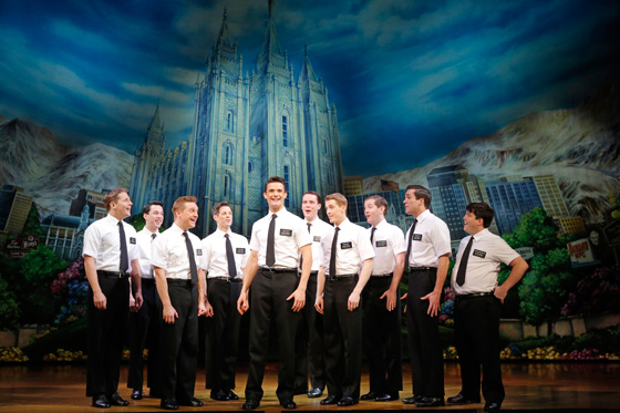 Book of Mormon First National Tour; photo by Joan Marcus 2013
