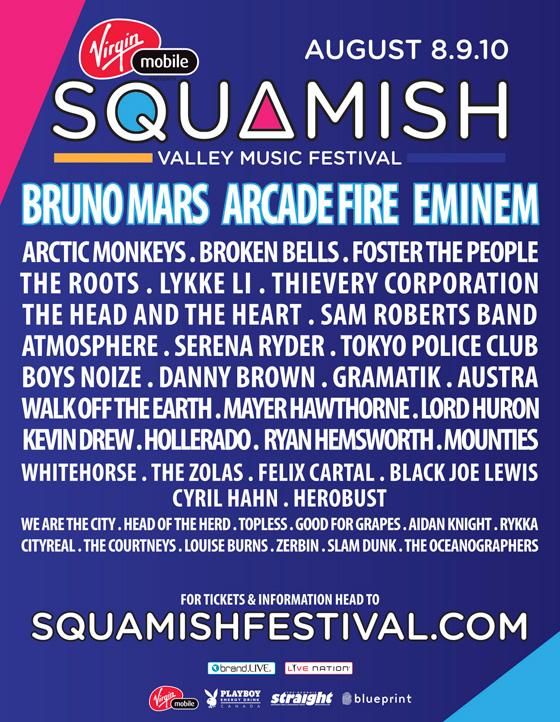 2014 Squamish Valley Music Festival poster