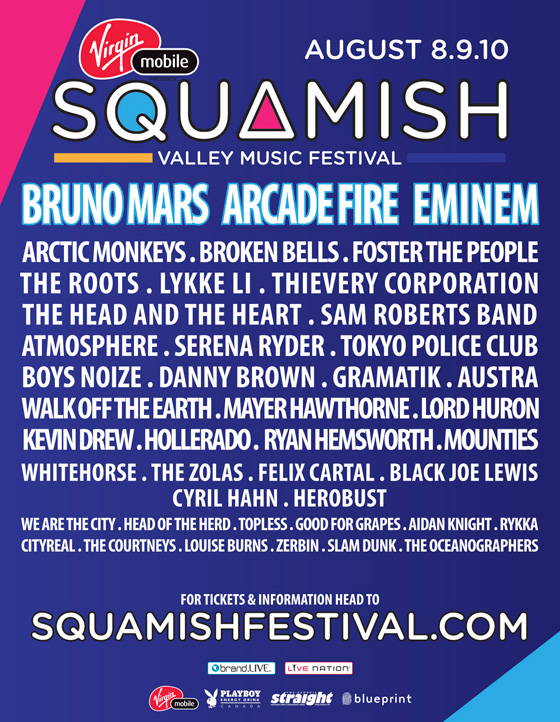 2014 Squamish Valley Music Festival poster