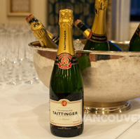 Bacchanalia reception Tattinger bottle