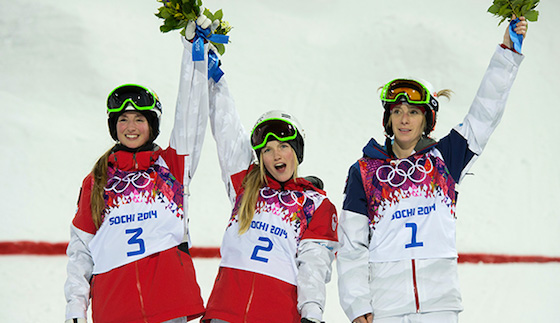 Justine Dufour-Lapointe takes gold and her sister, Chloe Dufour-Lapointe gets a silver!