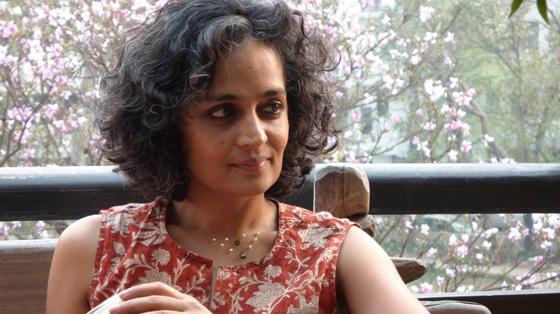 Arundhati Roy; photo by Sanjay Kak