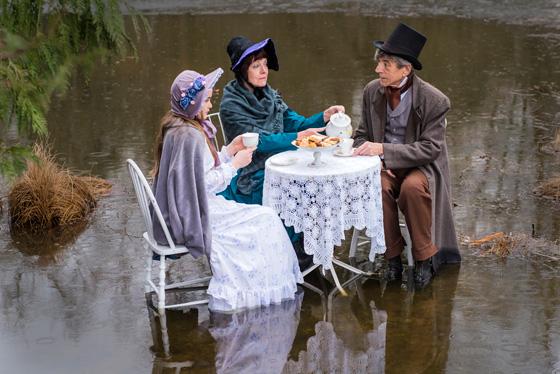 Olivia Huntsman, Louise Phillips and Douglas Abel