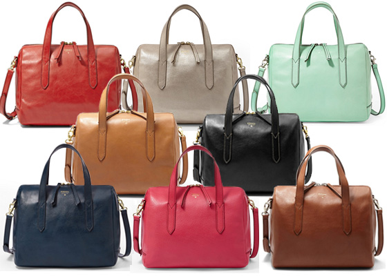 Fossil Sydney satchel color selection