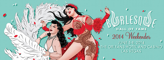 Burlesque Hall of Fame banner, 2014