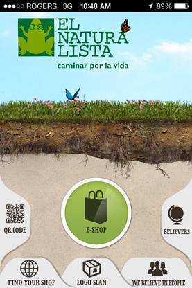 El Naturalista iPhone app screen