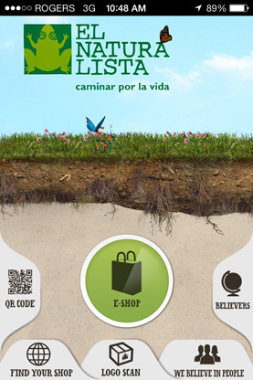 El Naturalista iPhone app screen